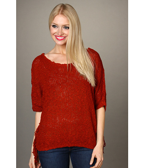 Bluze Lucky Brand - Penny Lane Poncho - Russian Red