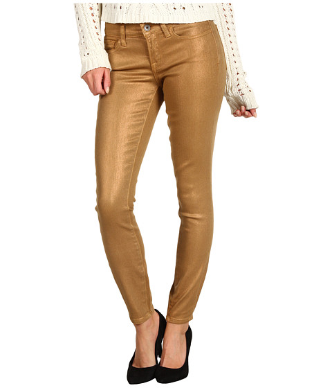Blugi Lucky Brand - Charlie Skinny Jean in Coated Sparkle Gold - Gold