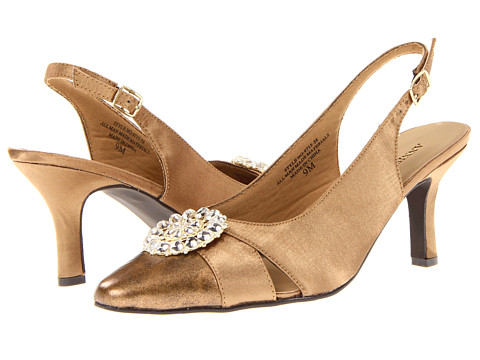 Pantofi Annie - Candra - Bronze/Bronze Satin