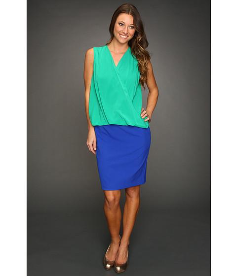 Rochii Calvin Klein - Blouson Colorblock Dress - Grass/Atlantis