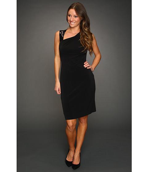 Rochii Calvin Klein - Jersey Dress With Sequin Piecing - Black
