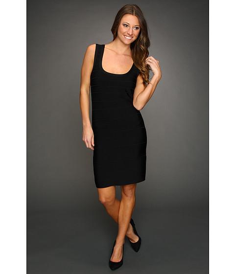 Rochii Calvin Klein - Textured Stripe Tank Dress - Black