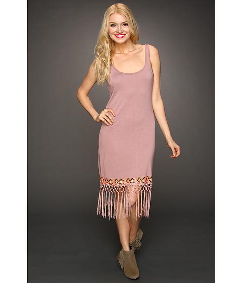 Rochii Volcom - Heart Nouveau Fringe Dress - Mauve