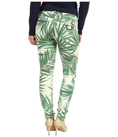 Blugi MICHAEL Michael Kors - Petite Tropical Palm Skinny Jean in Kelly Green - Kelly Green