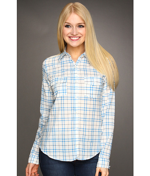 Bluze Gabriella Rocha - Garnette Plaid Shirt - Ivory/Blue