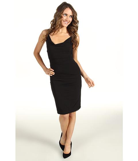 Rochii Nicole Miller - Cowl Neck Stretchy Matte Jersey Dress - Black
