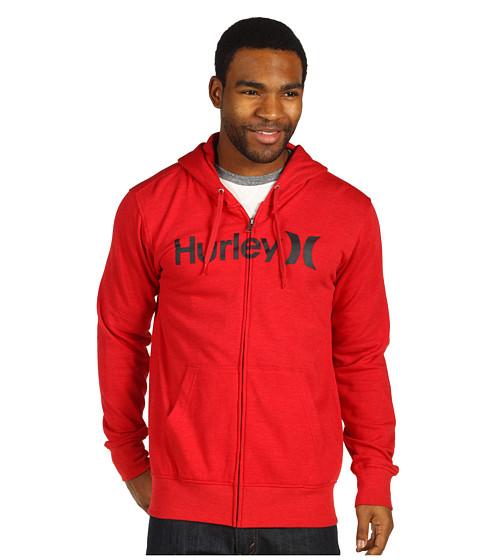 Bluze Hurley - One & Only Fleece Zip - Heather Red