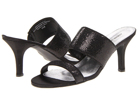 Sandale Annie - Risque - Black Glitter/Black Satin