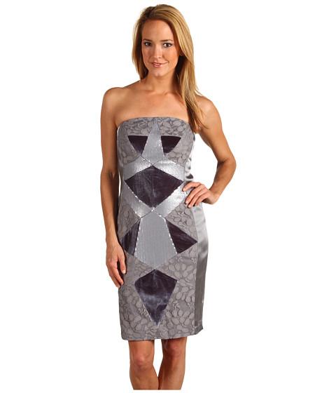 Rochii Jax - Multi Media Geometric Splice Dress - Sterling