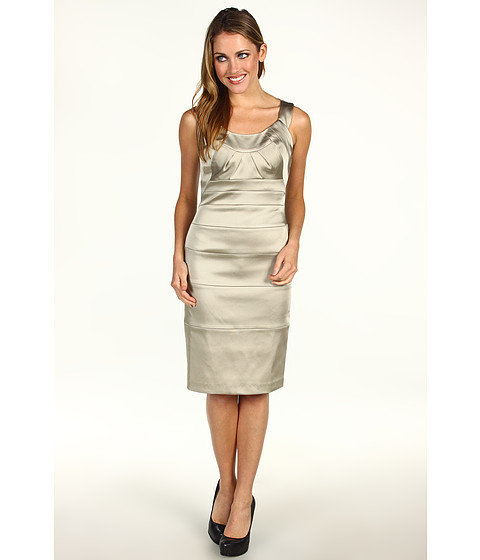 Rochii Jax - Spliced Satin Sheath Dress Cabo - Stone