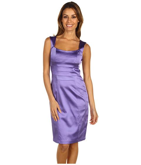 Rochii Jax - Straight Satin Dress with Banded Bodice - Crocus
