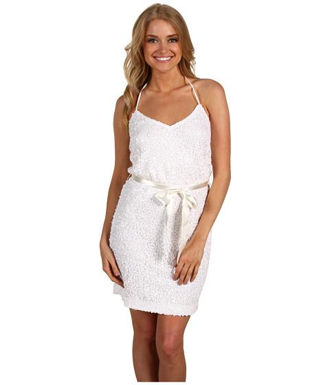 Rochii Trina Turk - Fuego Fiesta Sequin Halter Dress - Blanca