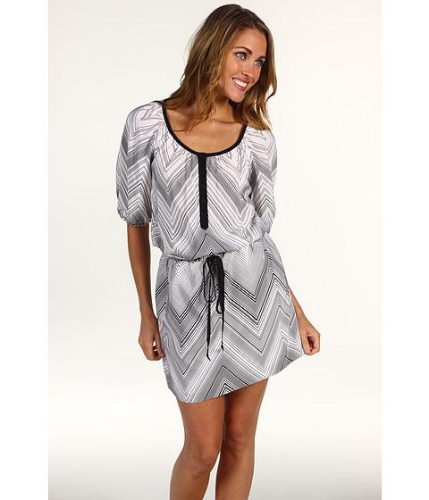 Rochii Trina Turk - Highlands Zig Zag Dress - Black/White