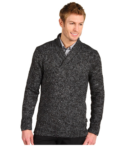 Tricouri Calvin Klein - Shawl Collar Alpaca Sweater - Dark Grey SL
