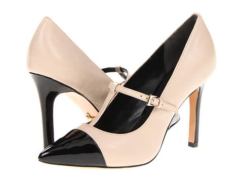 Pantofi Pour La Victoire - Carmendy - Beige/Black Nappa Patent