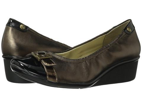 Pantofi Anne Klein - 7Dragonfly - Bronze Fabric/Bronze Patent