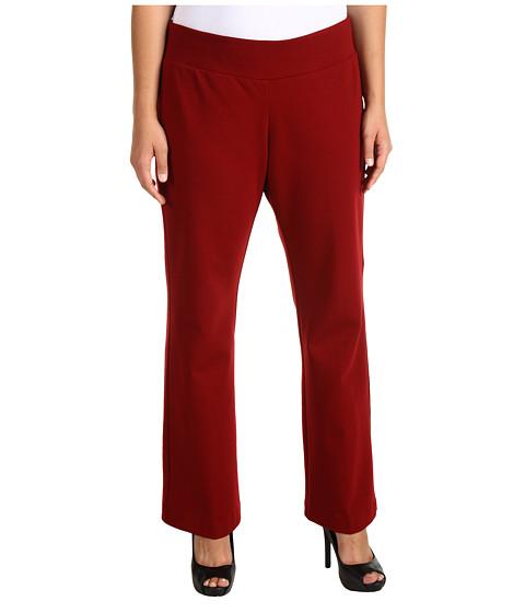 Pantaloni Karen Kane - Plus Size Structered Knit Pant - Wine
