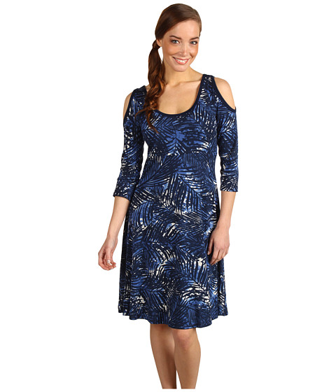 Rochii Karen Kane - Cold Shoulder Dress - Tropical Fern Print