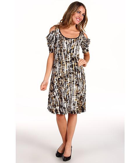 Rochii Karen Kane - Primitive Print Knit Drape Sleeve Dress - Print