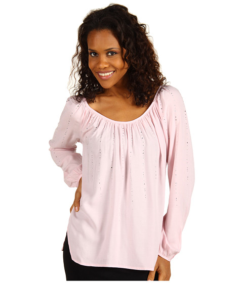 Bluze Karen Kane - Blouson Sleeve Top With Crystals - Pink
