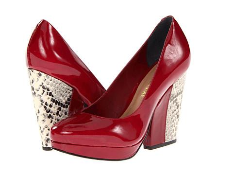 Pantofi Pour La Victoire - Brahms - Dark Red Foil Cloudy Patent
