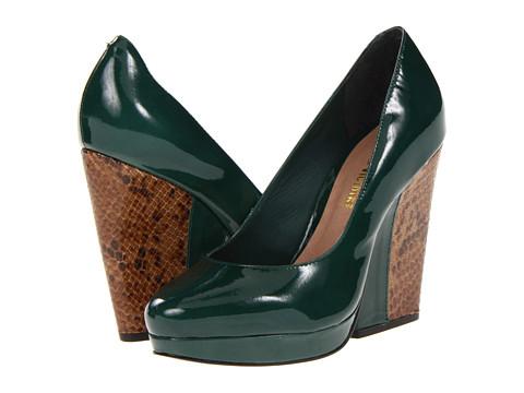 Pantofi Pour La Victoire - Brahms - Emerald Foil Cloudy Patent