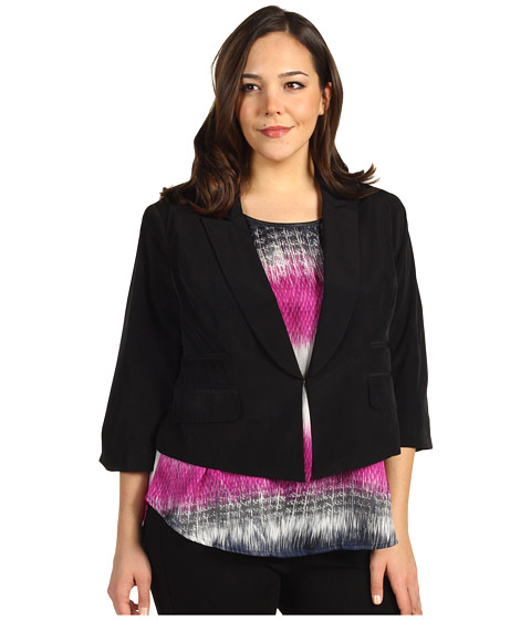 Jachete Kenneth Cole New York - Plus Size Relaxed Fit Jacket - Black