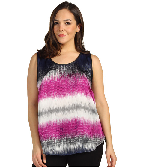 Bluze Kenneth Cole New York - Plus Size Printed S/L Tank - Atomic Orchid