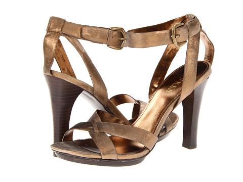 Pantofi LAUREN Ralph Lauren - Hart - Vintage Gold Sueded Metallic