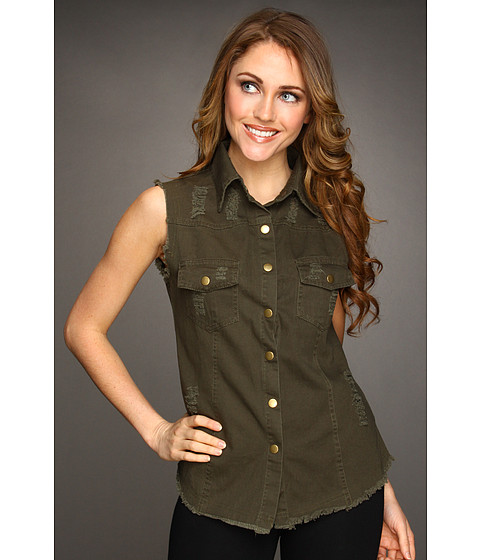 Jachete Gabriella Rocha - Ralas Sleeveless Top - Army Green