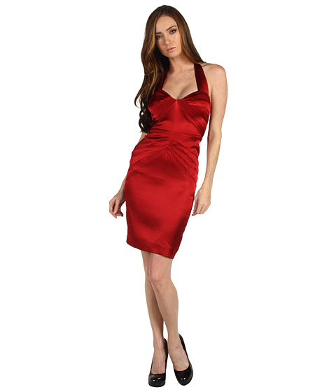 Rochii Z Spoke ZAC POSEN - Stretch Charmeuse - 601 Dark Ruby