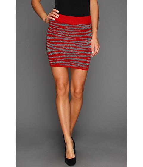 Pantaloni Gabriella Rocha - Meena Zebra Mini Skirt - Red Loom/Black