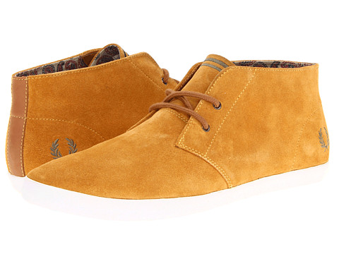 Ghete Fred Perry - Byron Mid Suede - Dark Gold/Iris Leaf