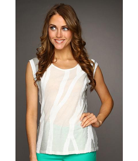 Tricouri Calvin Klein - Sequin Stripe Tank Top - Winter White