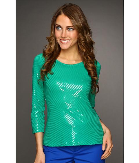 Tricouri Calvin Klein - Bias Sequin Top - Sea Green