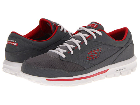 Adidasi SKECHERS - On the GO - Rookie - Charcoal/Red