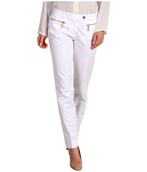 Pantaloni MICHAEL Michael Kors - Zip Pocket Ankle Pant - White