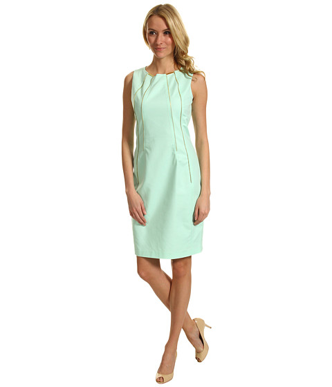 Rochii Calvin Klein - Shift Dress w/ Zippers - Opal
