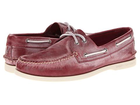 Pantofi Sperry Top-Sider - A/O 2-Eye White Wash - Dark Red