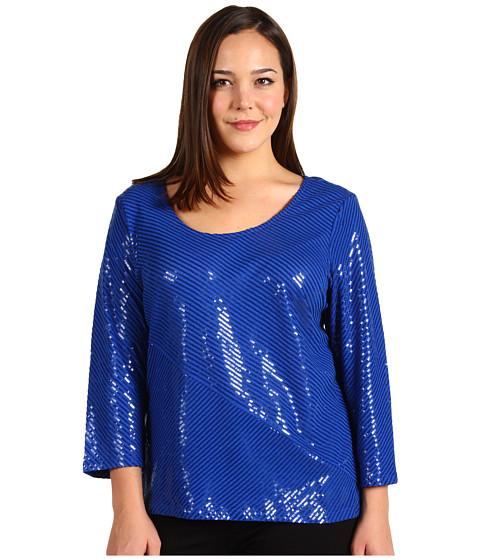 Tricouri Calvin Klein - Plus Size Bias Sequin Top - Cobalt