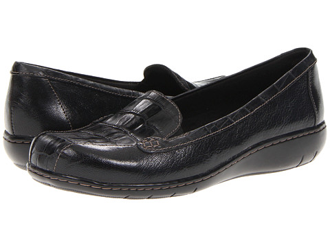 Pantofi Clarks - Bayou Two - Black Croc Print