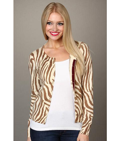 Bluze Lucky Brand - Zebra Print Cardigan - Natural Multi