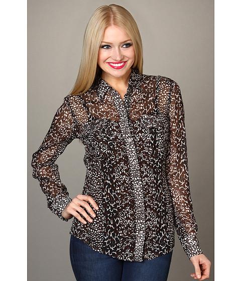 Bluze Lucky Brand - Joan Animal Print Blouse - Brown Multi