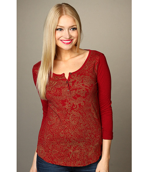 Bluze Lucky Brand - Lucky Lace Branded Tee - Luxe Red