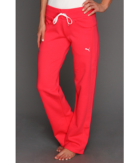 Pantaloni PUMA - Fleece Pant - Teaberry Red