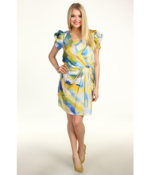 Rochii Vince Camuto - V-Neck Drape Sleeveless Dress - Tie Dye