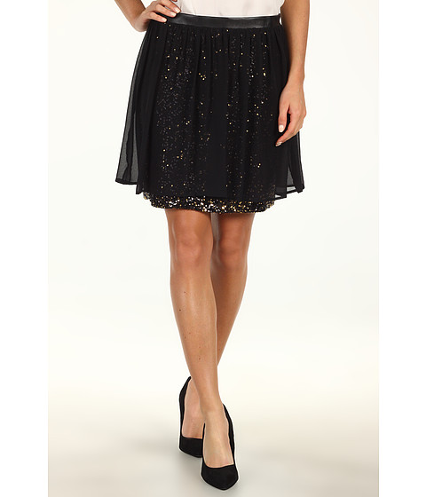 Fuste DKNY - Sequin Skirt w/ Gathering - Black