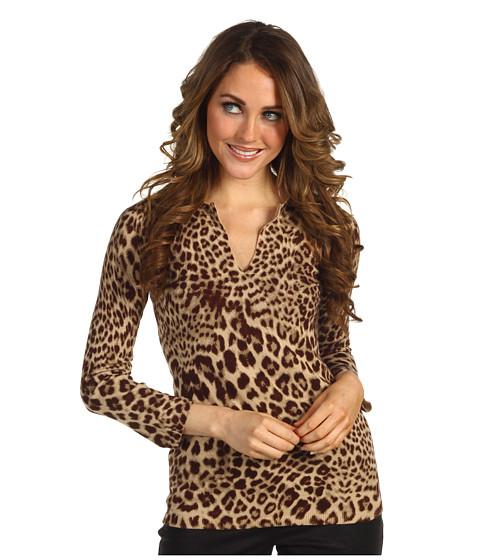 Bluze Anne Klein New York - Petite Leopard Print Pullover - Bark Multi