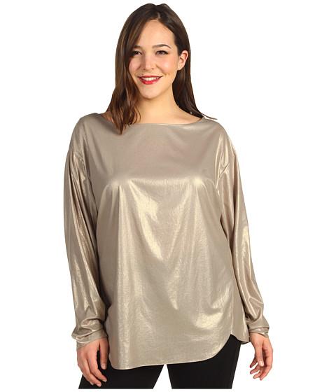 Bluze Anne Klein - Plus Size Foiled L/S Blouse - Gold Dust