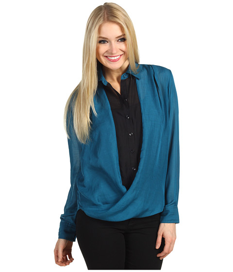 Camasi BCBGeneration - Contrast Twist Detail Shirt - Blue Depths